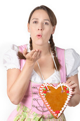 Flirty Oktoberfest Girl - with a blank Herzl