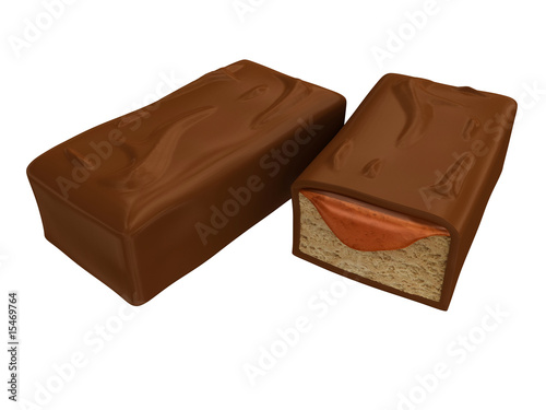 3d chocolate and caramel bars