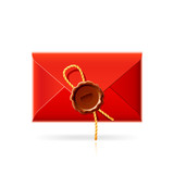 Confidential mail. Vector icon. poster