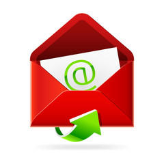 Inbox mails. Vector icon.