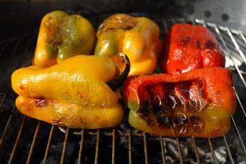Peperoni al barbecue