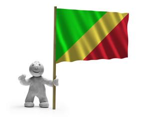 republik kongo flagge lachen