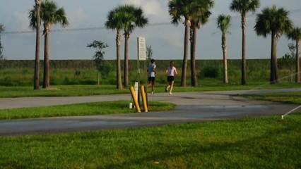 Teenagers Jogging