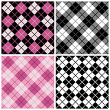 Argyle-Plaid Pattern_Black-Pink