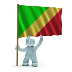 republik kongo flagge staunen