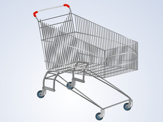 Vector empty supermarket cart