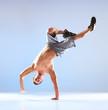 Young man modern dance