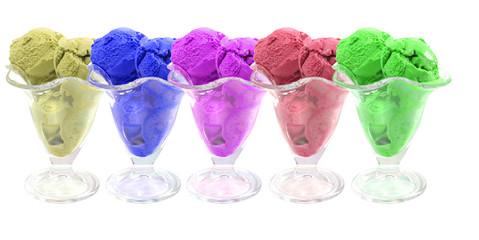 colored ice cream