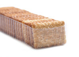 Rectangle crackers in package, poster