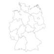 karte deutschland (umriss I)