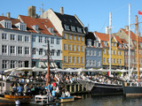 Touristentrubel am Nyhavn poster
