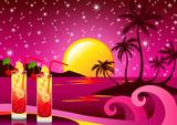 Pink drink background