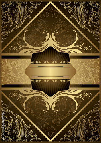 Ornate Gold Floral Background