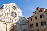 Beautiful Romanesque cathedral of St. Anastasia, Zadar poster