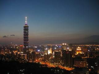 Taipei night scene with Taipei101