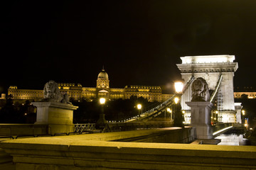 Budapest-Chainbridge at night