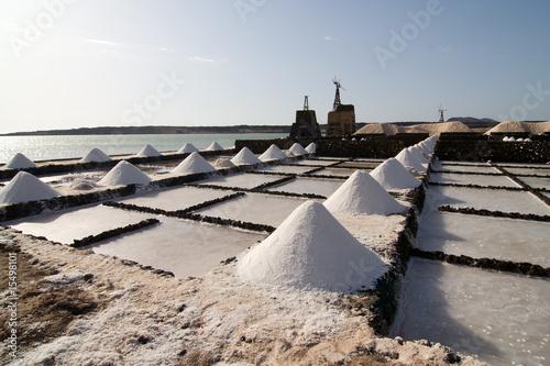 Salz wird in den Salinen von Janubio abgebaut - 15498101