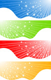 Vector abstract banners with star; clip-art