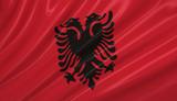 Flag of Albania. Flag series. poster
