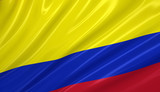 Flag of Colombia. Flag series. poster
