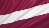 flag of latvia. flag series. poster