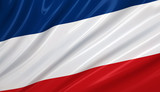 Flag of Serbia montenegro. Flag series. poster