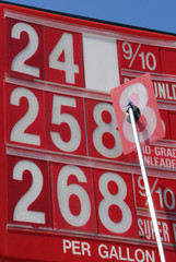 Price changing on gas sign