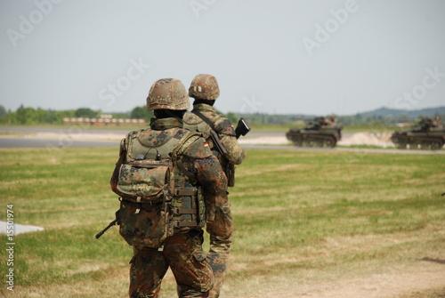 Leinwandbild Motiv Bundeswehrsoldaten