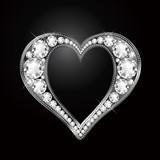 ダイヤモンドのハート diamond heart