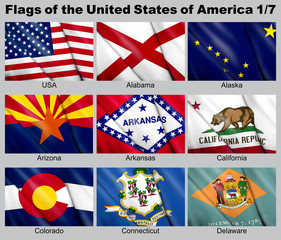 Flags of the USA 1/7