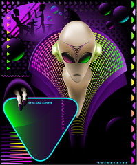 Alien club flyer