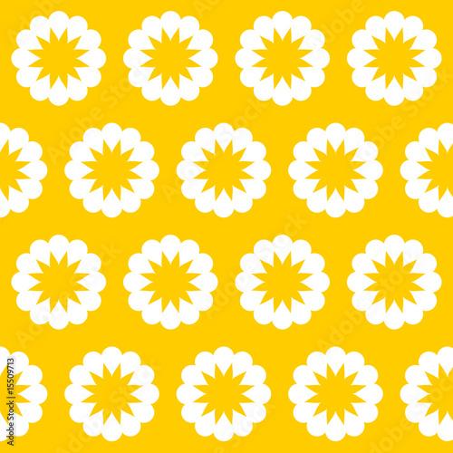 retro tapete gelbe blumen ii von wogi lizenzfreier vektor. Black Bedroom Furniture Sets. Home Design Ideas
