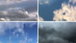 impression of four different skies
