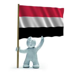 jemen flagge staunen