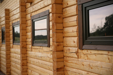 Wooden houses wall