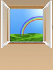finestra arcobaleno-window rainbow-fenêtre arc en ciel