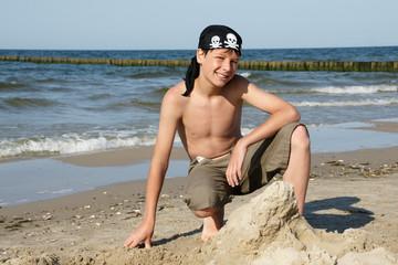 Pirat im Sand