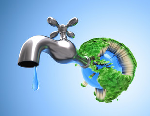 Waste water in the world. Grass die and all life on the Earth.