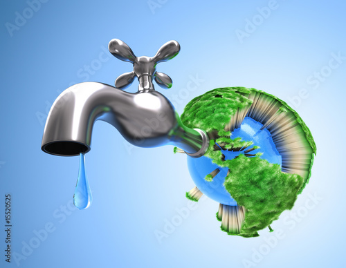 Waste water in the world. Grass die and all life on the Earth. - 15520525