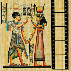 egyptian background with film strip