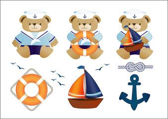 little sailor teddy bears