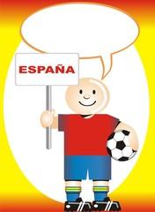 Postal de Aliento para la selección Española de Futbol