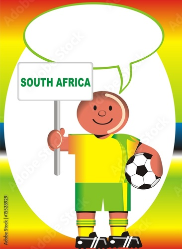 Greeting postcard of South Africa for the soccer world coup