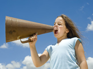 girl and megaphone