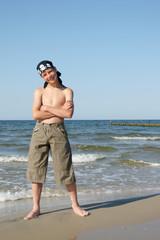 frecher Pirat am Meer