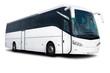 Leinwanddruck Bild - White Tour Bus