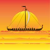 Viking Sunset poster