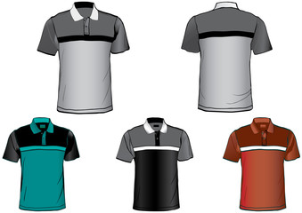 Set of detailed shirt templates
