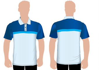 Detailed polo shirt template