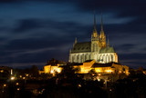Cathedral Petrov at night - Brno Czech Republic